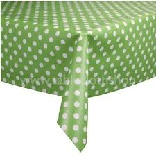 green table cover roll polka dot vinyl table cover