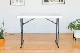 foldable table adjustable height the best folding tables reviews by wirecutter a new york times
