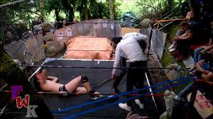biggest german backyard wrestling show ever riot youtube