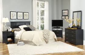 Furniture Platinum Series Black Bedroom Collection - Carolina bedroom set