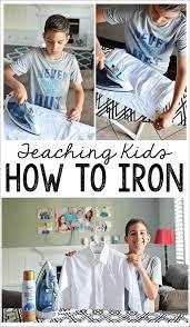 teaching kids how to iron thirty handmade days