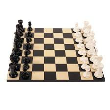 bold chess gloss white v shadow black luxury chess set