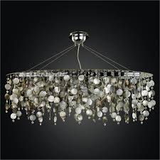 Oval Crystal Chandelier Decorations Oyster Shell Chandelier Lighting Crystal Sailboat