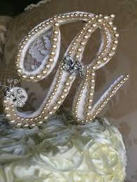 gold monogram cake toppers custom pearl monogram cake topper h monogram cake topper custom