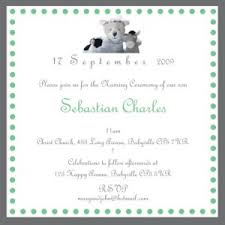 Ceremony Card Wording Christening Baptism Naming Ceremony Invitations With Matching Free