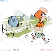 graveyard clipart clipart of a caucasian woman whistling while walking past a