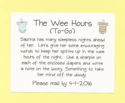 the wee hours to go long distance baby shower game cute