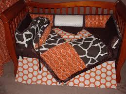 Walnut Nursery Furniture Sets by Baby Nursery Astounding Orange Giraffe Baby Bedding Set And Light