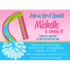 design lovely pool party invitation cards free with speach image