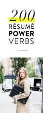 Resume Power Verbs List Resume by