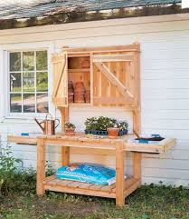 Outdoor Potting Bench With Sink 45 Diy Potting Bench Plans That Will Make Planting Easier Free