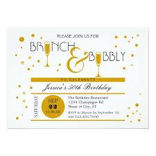 birthday brunch invitations brunch and bubbly birthday invitation zazzle