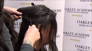 Hair Extension Classes by Micro Ring Weft Hair Extension Training Youtube