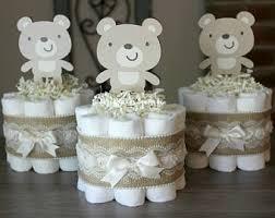 Teddy Bear Centerpieces by Set Of 3 Teddy Bear Mini Diaper Cakes Teddy Bear Baby