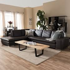 Brown Leather Sofa With Chaise Larry Brown Leather Sectional Sofa Chaise Set Free