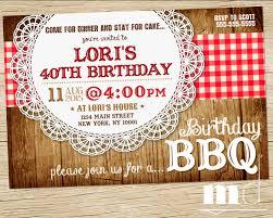 birthday dinner invites bbq birthday invite barbecue birthday invitation picnic