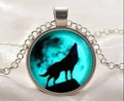 glow in the necklaces moon wolf necklace glow in the after uv