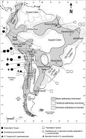 Middle And South America Map by Middle Devonian Microfloras And Megafloras From Western Argentina