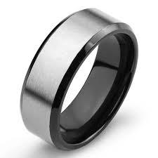 mens titanium wedding ring men s two tone titanium comfort fit wedding band 8mm wide