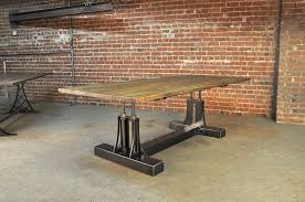 Dining Table Metal Top Post Industrial Conference Table Industrial Table Vintage