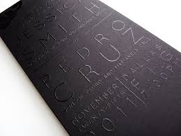 thermography wedding invitations sleek black on black thermography wedding invitations