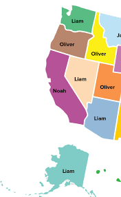Ferris State University Map by Here Are The Top Baby Names In Every State