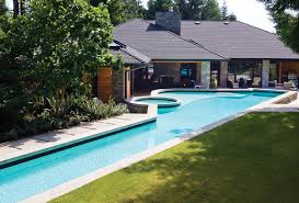 This Hybrid Swimming Pool Design Combines The Familys Need For An - Backyard lap pool designs