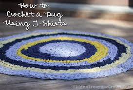 Crochet Tshirt Rug Pattern How To Crochet A T Shirt Rug Hidden Treasure Crafts And Quilting