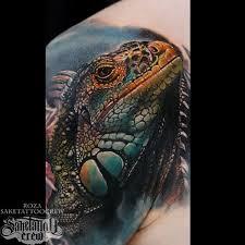 mer enn 25 bra ideer om iguana tattoo på pinterest