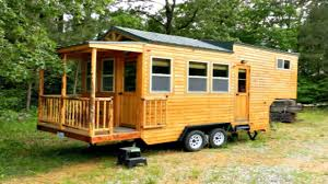 tiny house gooseneck fifth wheel trailer home with front deck