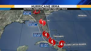 Hurricane Tracking Map Catastrophic Hurricane Irma Takes Aim On Florida