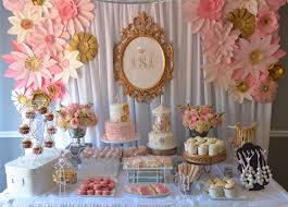 dessert table backdrop vintage pink gold dessert table by designs by oochay floral