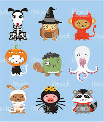 halloween zoo animal costumes stock vector art 165976542 istock