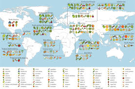 Cool Maps Of The World by Origins Of Food Crops Connect Countries Worldwide Proceedings Of