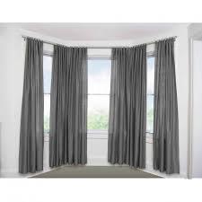 Gray Window Curtains Decor Bay Window Curtain Rod For Window Curtains Decorating Ideas