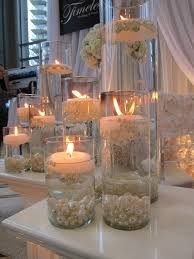 wedding table decorations candle holders candle sand and pearls event table decor candles with pearls