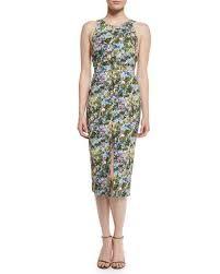 sleeveless dress cushnie et ochs floral open back sleeveless dress floral neiman