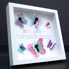 personalized name origin and meaning 3d paper butterflies