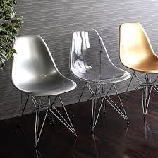Clear Eames Chair Replica Vitra Ghost Clear Eames Dsr Chair Acrozz Com