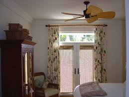 sliding glass door bamboo curtains decorate the house with