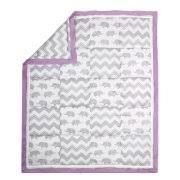 Purple Elephant Crib Bedding The Peanut Shell 4 Piece Baby Crib Bedding Set Grey