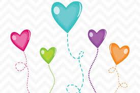 heart balloons clip candy heart balloons by sonya dehart design thehungryjpeg