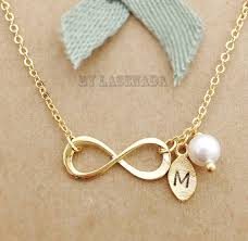 personalized initial bracelets infinity necklace with leaf initial charm personalized initial