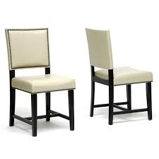 Nail Trim For Upholstery Furniture Enchanting Cream Faux Leather Modern Dining Chairs
