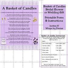 bridal shower gift poems 15 best diy wedding candle basket ideas images on