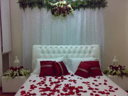 decoration candles wedding bed with flower of and image images