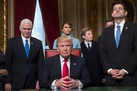 Trump In The Oval Office Trump In Oval Office Signs First Executive Order On Obamacare