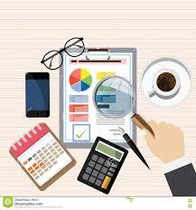 Desk Audit Auditor Work Desk Financial Research Report Project Desktop