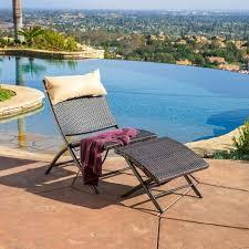 home loft concept terrace 2 piece wicker lounge chair u0026 ottoman