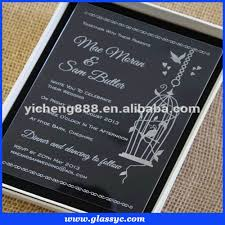 acrylic transparent wedding invitation card birthday invitation